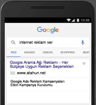 Google arama reklamları