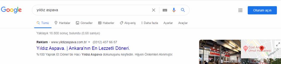Ankara google reklam verme